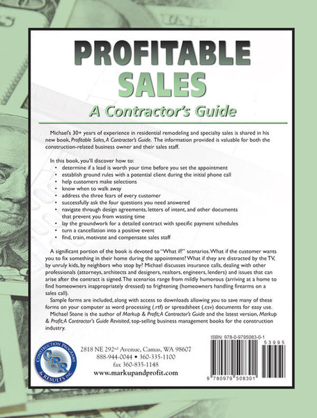 Profitable Sales, A Contractor's Guide