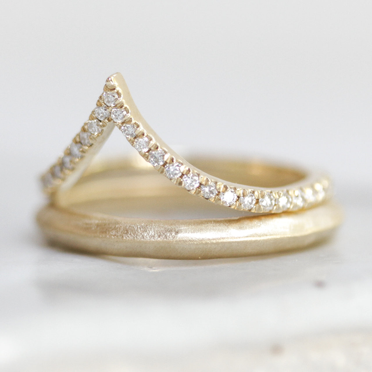 Tabor Diamond Contour Ring