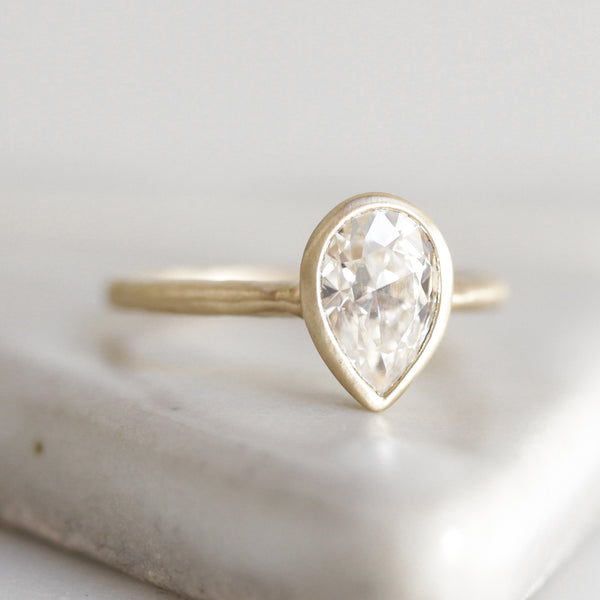 Raina Pear Cut Solitaire