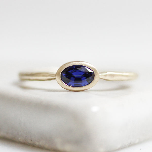 East To West Sapphire Ring