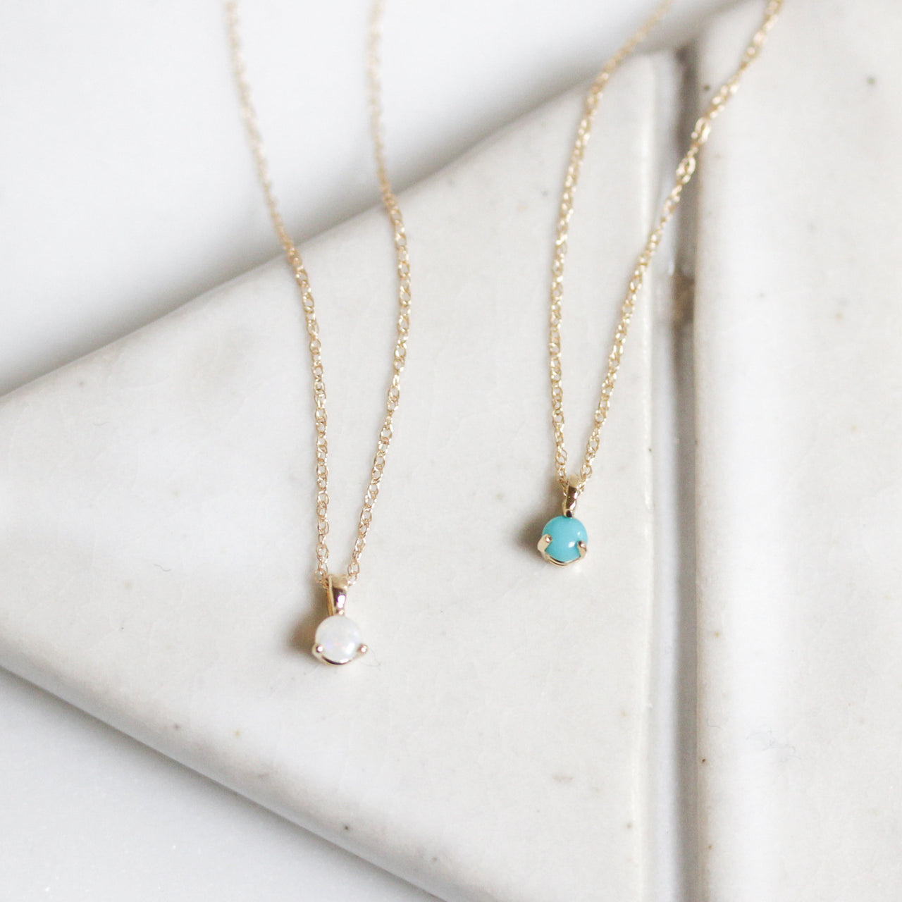 Solid Gold Gemstone Necklace