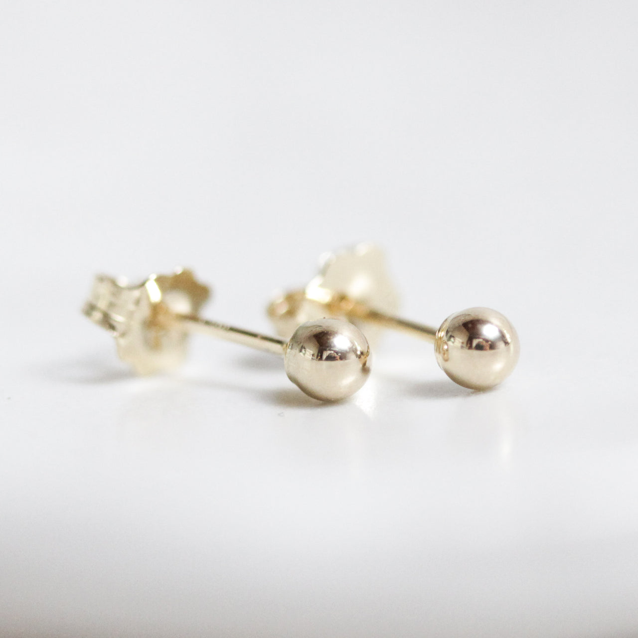 Petite Gold Sphere Earrings