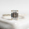 Emerald Cut Pavé Solitaire