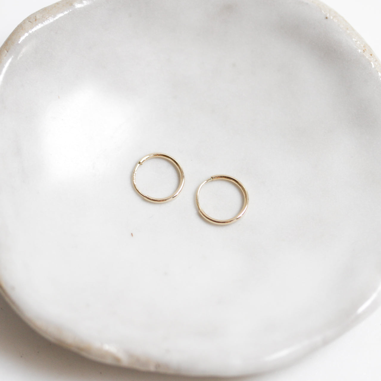 Gold Infinity Hoops (Small)