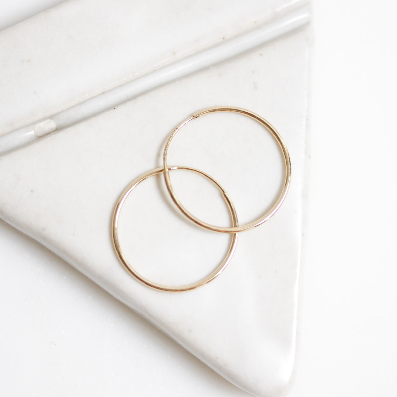 Gold Infinity Hoops