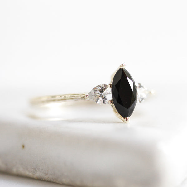 Marquise Tri Stone Ring