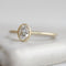 Bezeled Oval Solitaire Ring