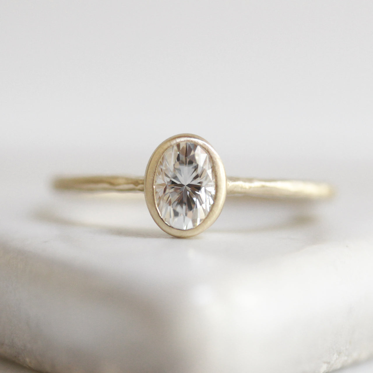 Flaxen Oval Solitaire