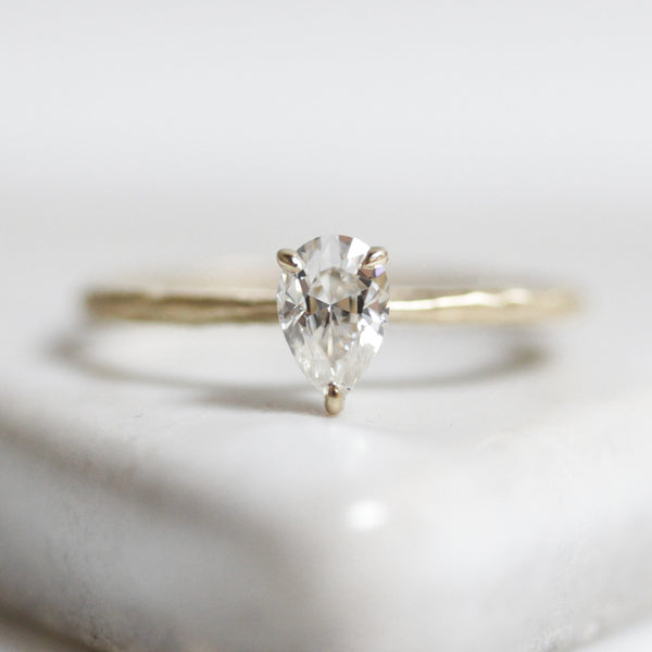 Petal Solitaire Ring