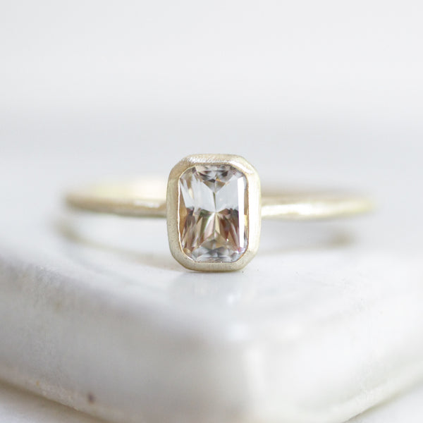 Emerald Cut Ammil Solitaire