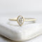 Leaflet Solitaire Ring