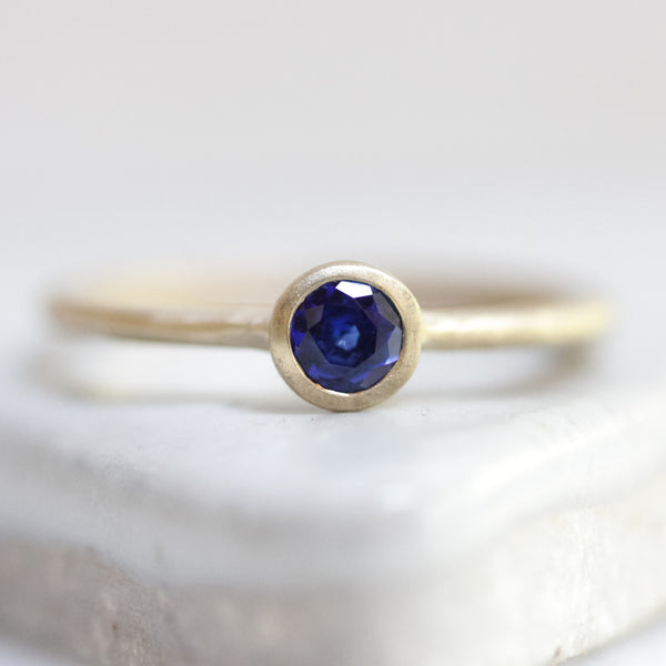 Posie Solitaire Ring (Sapphire)