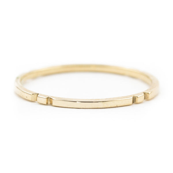 Notched Gold Hopita Band
