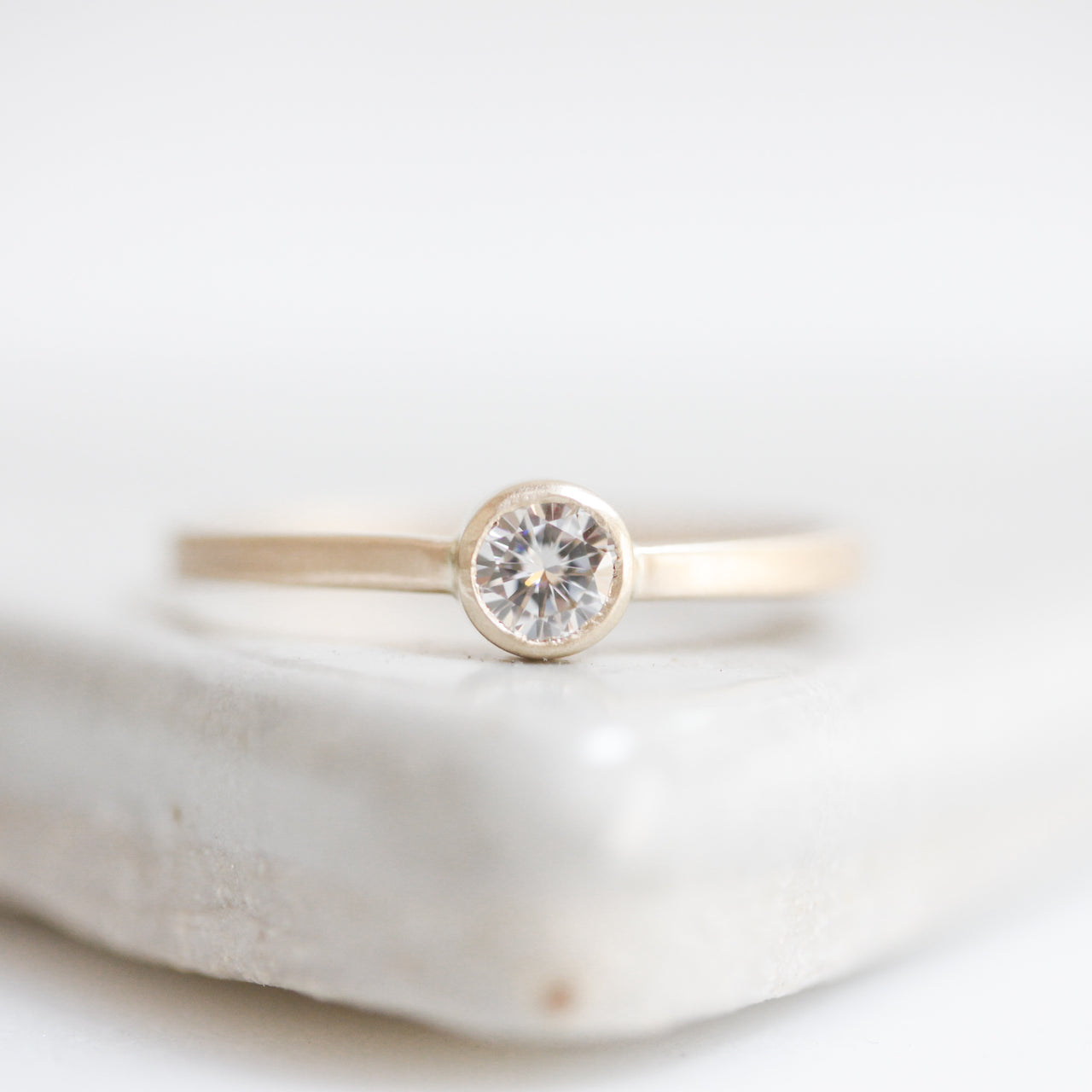 Delphine Solitaire Ring