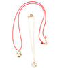 Montara Initial Necklace (Red Silk Edition)