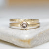 Pale Pink Morganite w/ Gold Sequoia wedding Set