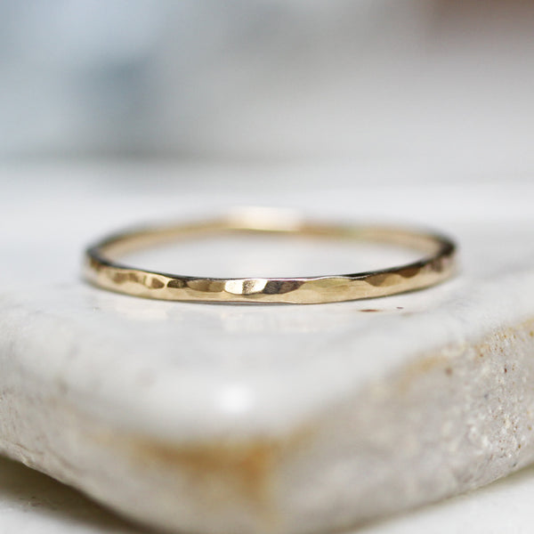 14K Gold Wildflower Band