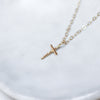Delicate 14K Gold Cross Necklace