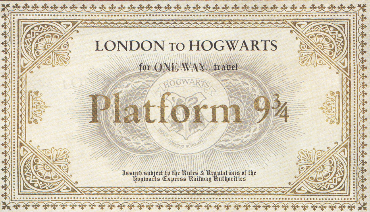 HP Platform 9 3/4 Ticket