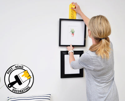 The easiest way to hang picture frames and décor
