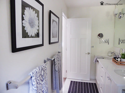 5 tips for hanging bathroom pictures