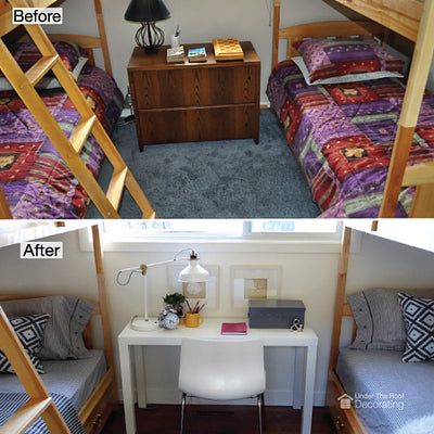 Before and after: cottage bedroom makeover