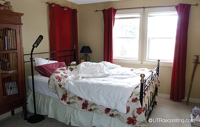 Before-and-after bedroom makeover