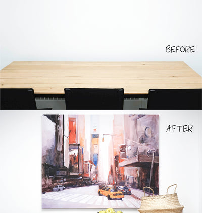 Before & After: 5 Minute Wall Makeover