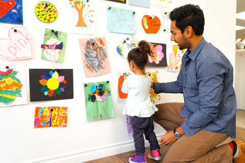 Create an Instant Gallery With Your Kids' Art - Without Making Any Holes in the Wall