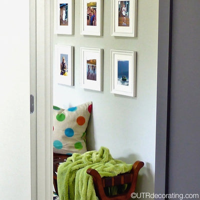 When hanging a gallery – number your frames