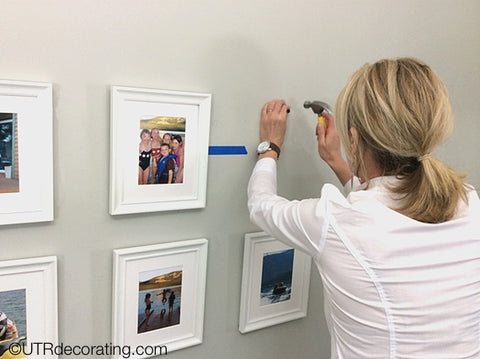 Keep frames straight on the wall