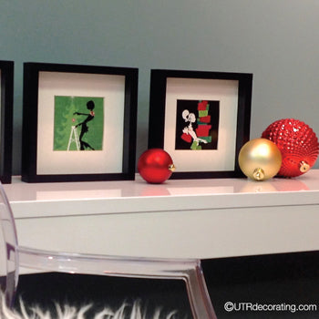Quick Holiday Decorating Idea: Framed Cards