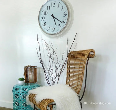How to hang a heavy clock