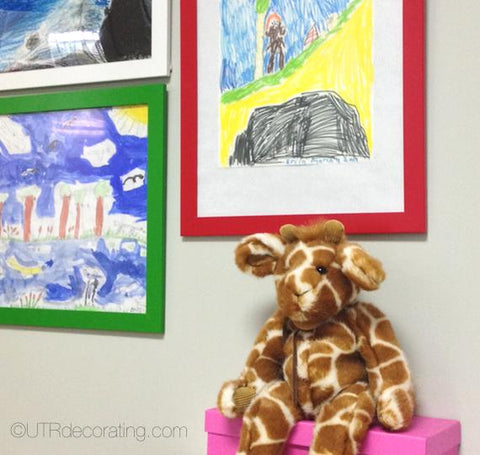 Hang your kids' masterpieces