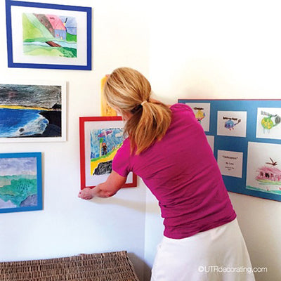 Hang art at kids' level – not at yours!