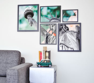 Create a Gallery Without Measuring or Marking Your Wall
