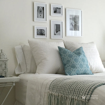 Creating a headboard with pictures
