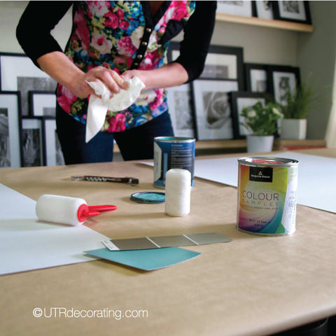 How to make large paint color samples