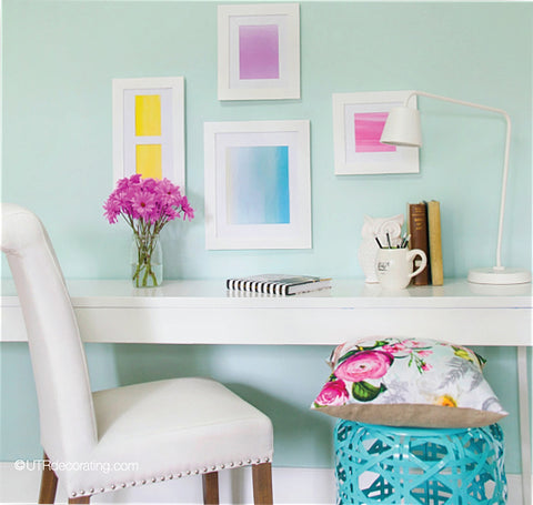 Pretty Pastel Workspace
