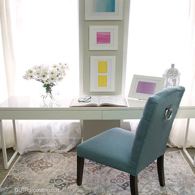 DIY spring decorating idea: pastel wall art
