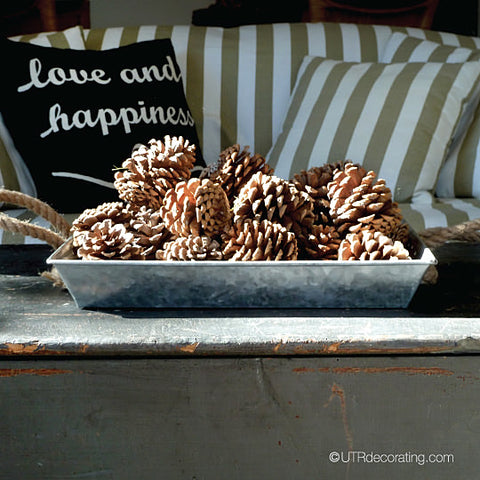 Fall Decorating With Pinecones