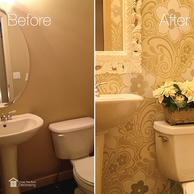 Drab to fab: powder room makeover
