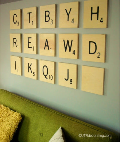 Scrabble Wall – How many words can you make?