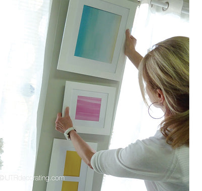 How to hang pictures vertically