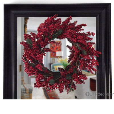 How to Hang a Wreath on a Mirror