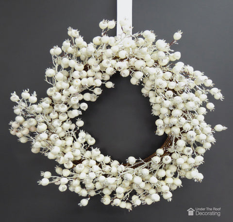 Hang a wreath for instant holiday cheer