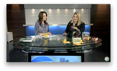Mompreneur Introduces Breakfast Television Audience to Hang & Level™