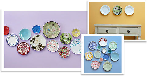 Decorating with plates – from the dining table to the walls!