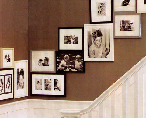 Picture Hanging Inspiration for the Staircase