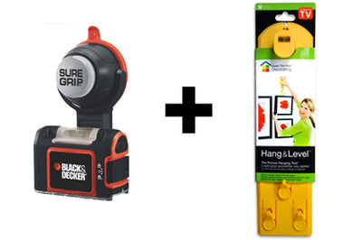 SureGrip + Hang & Level =  the perfect picture hanging pair